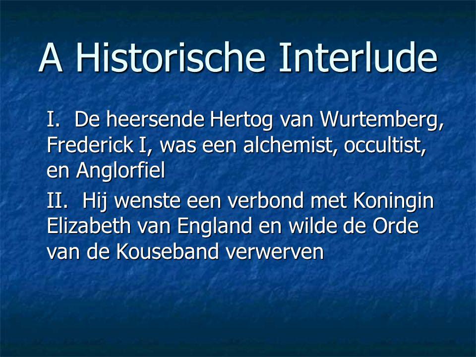 A Historische Interlude I.