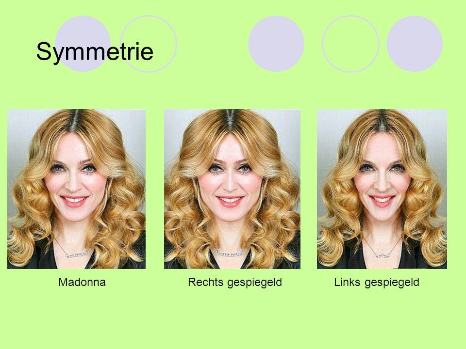 MadonnaLinks gespiegeldRechts gespiegeld Symmetrie