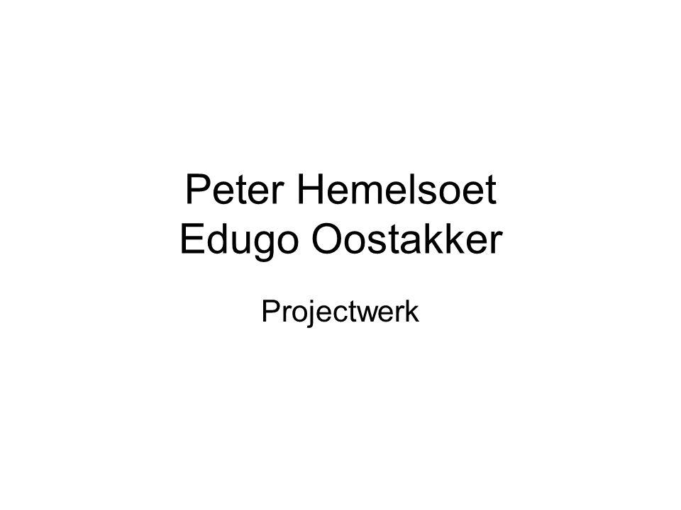 Peter Hemelsoet Edugo Oostakker Projectwerk