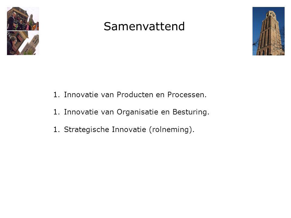 Samenvattend 1.Innovatie van Producten en Processen. 1.Innovatie van Organisatie en Besturing. 1.Strategische Innovatie (rolneming).