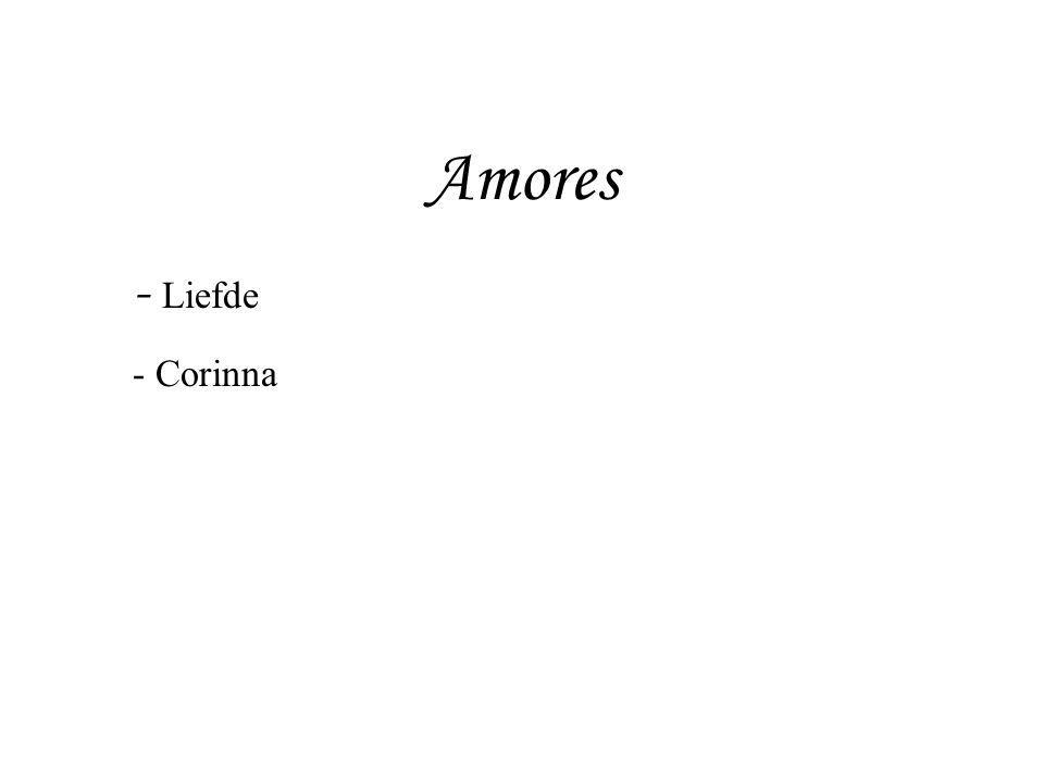 Amores - Liefde - Corinna - Augustus