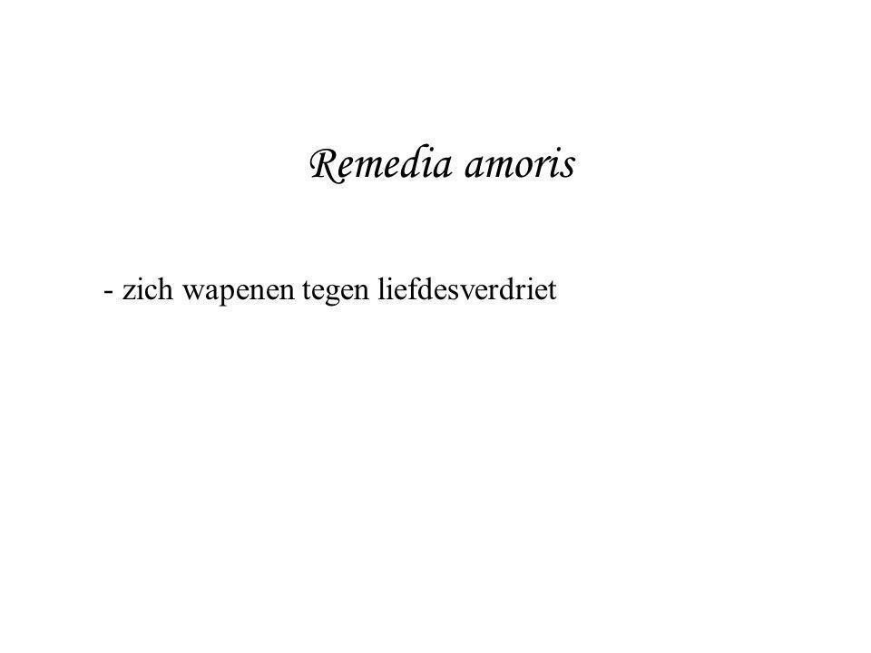 Remedia amoris - zich wapenen tegen liefdesverdriet