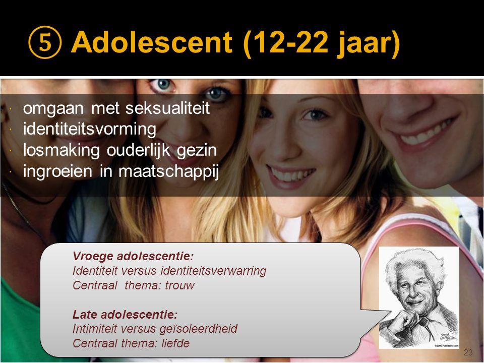 © drs. Caroline Heijmans   heijmans@ator-opleidingen.nl ⑤ Adolescent (12-22 jaar)  omgaan met seksualiteit  identiteitsvorming  losmaking ouderlijk