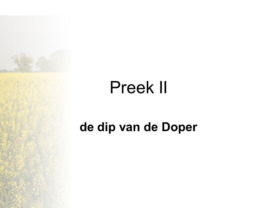Preek II de dip van de Doper