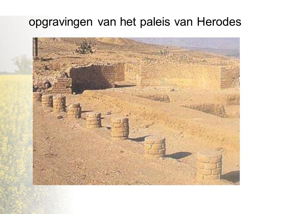 opgravingen van het paleis van Herodes