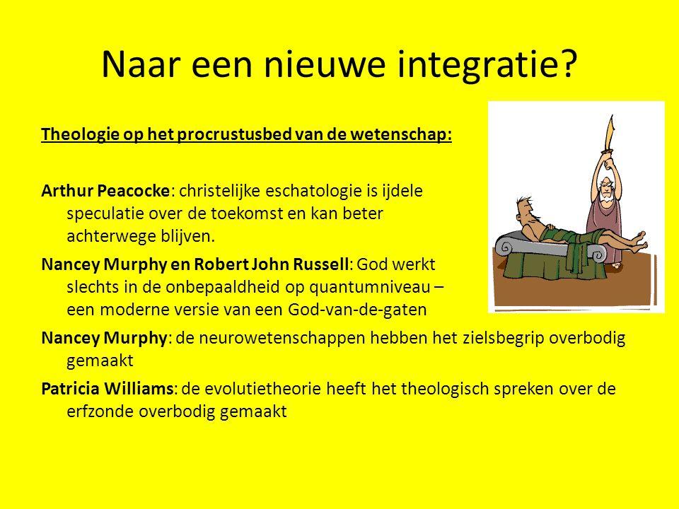 Naar een nieuwe integratie? Theologie op het procrustusbed van de wetenschap: Arthur Peacocke: christelijke eschatologie is ijdele speculatie over de