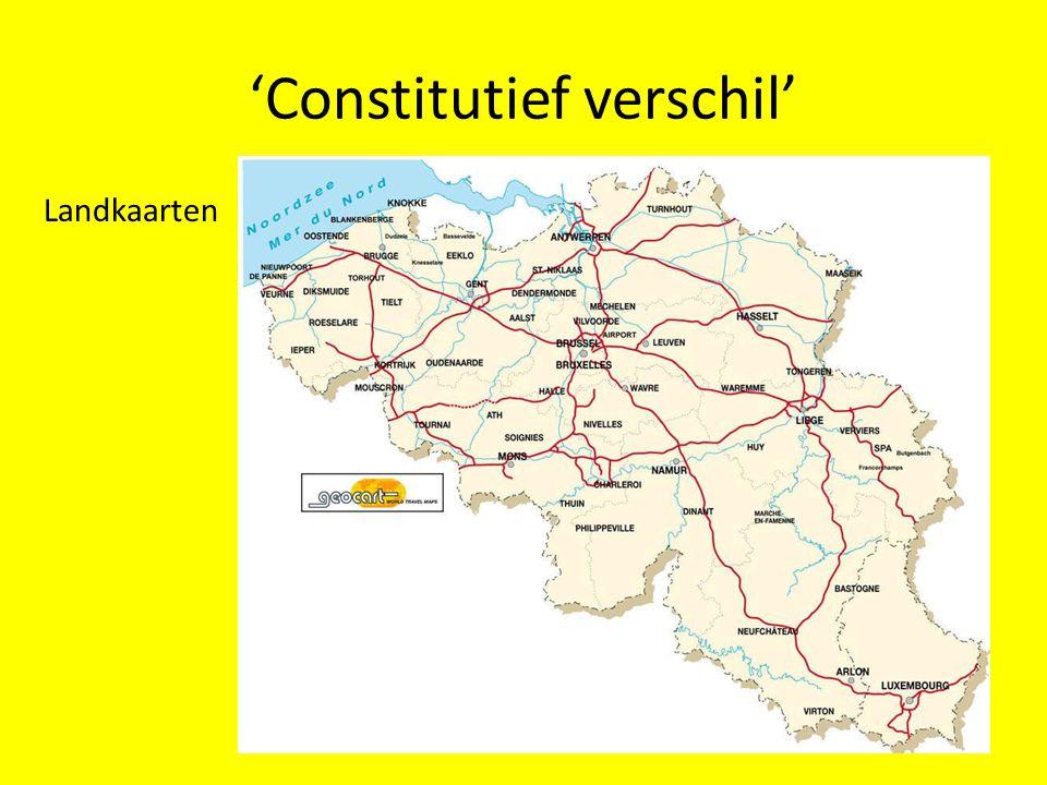 'Constitutief verschil' Landkaarten
