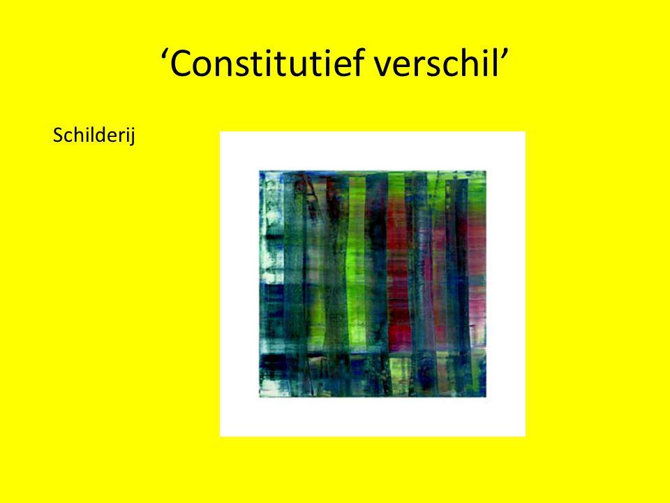 'Constitutief verschil' Schilderij