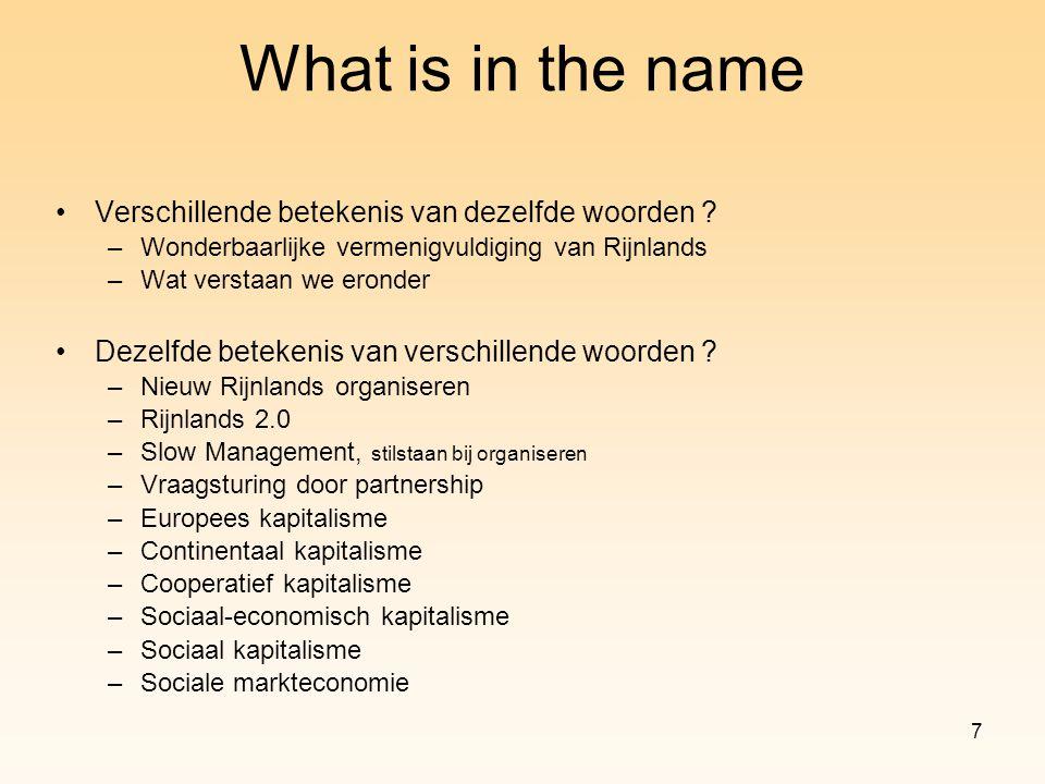 7 Verschillende betekenis van dezelfde woorden ? –Wonderbaarlijke vermenigvuldiging van Rijnlands –Wat verstaan we eronder Dezelfde betekenis van vers