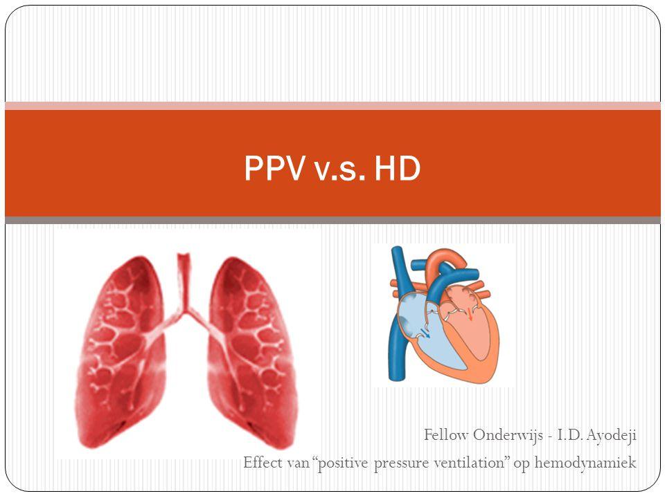 """Fellow Onderwijs - I.D. Ayodeji Effect van """"positive pressure ventilation"""" op hemodynamiek PPV v.s. HD"""
