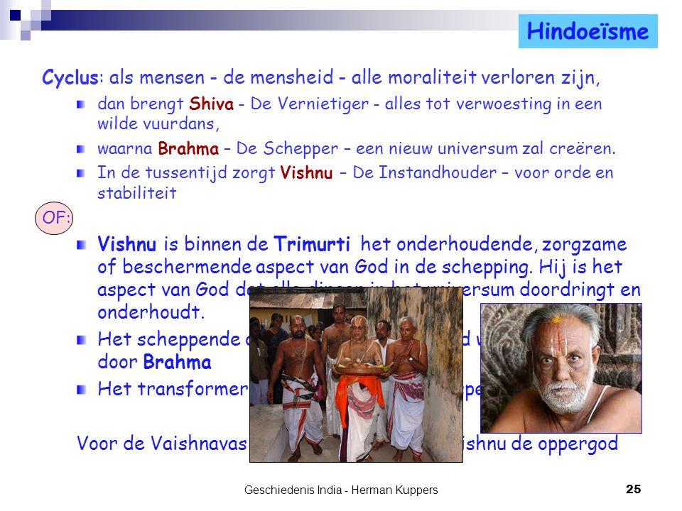 Cyclus: als mensen - de mensheid - alle moraliteit verloren zijn, dan brengt Shiva - De Vernietiger - alles tot verwoesting in een wilde vuurdans, waa