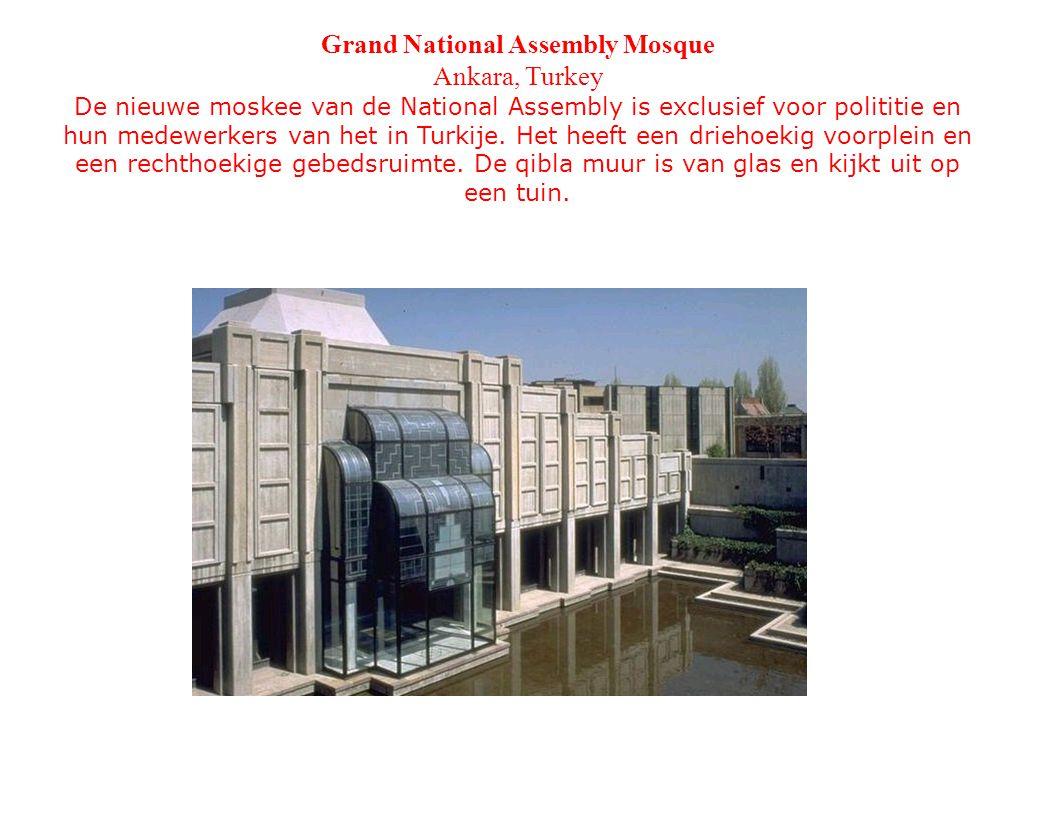 Grand National Assembly Mosque Ankara, Turkey De nieuwe moskee van de National Assembly is exclusief voor polititie en hun medewerkers van het in Turkije.