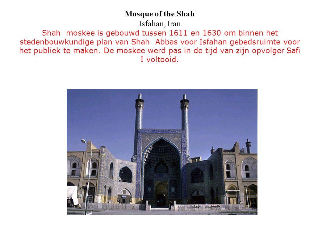 Mosque of the Shah Isfahan, Iran Shah moskee is gebouwd tussen 1611 en 1630 om binnen het stedenbouwkundige plan van Shah Abbas voor Isfahan gebedsrui