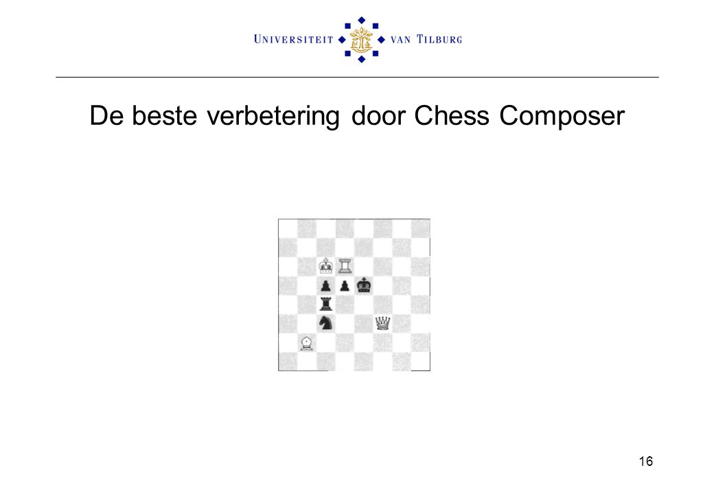 De beste verbetering door Chess Composer 16