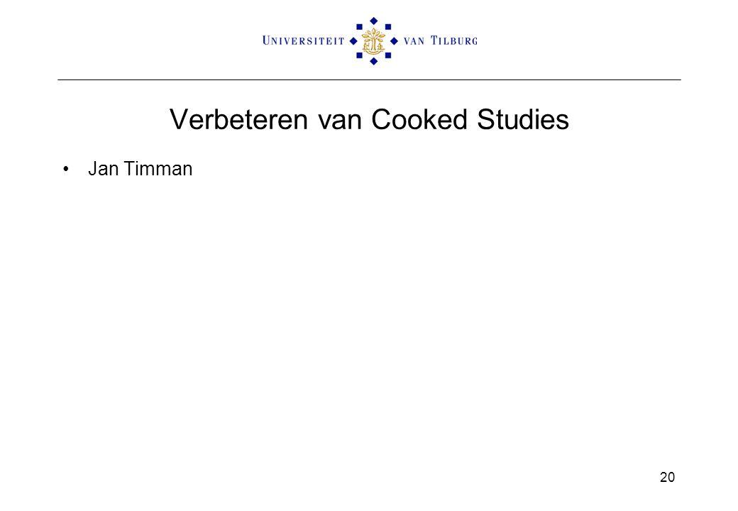 Verbeteren van Cooked Studies Jan Timman 20