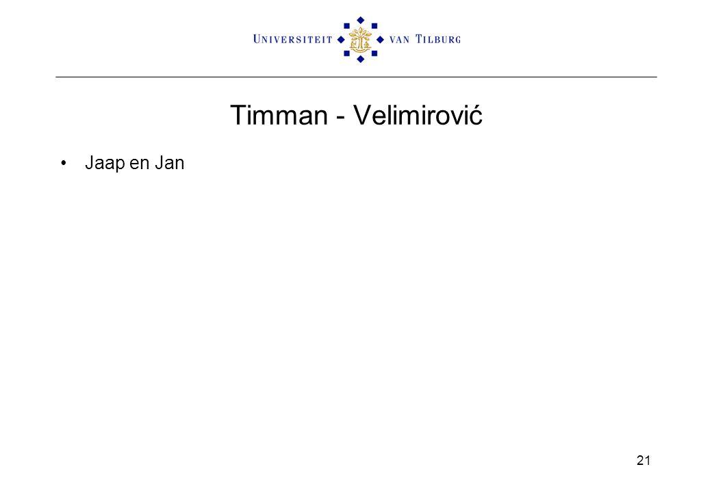 Timman - Velimirović Jaap en Jan 21