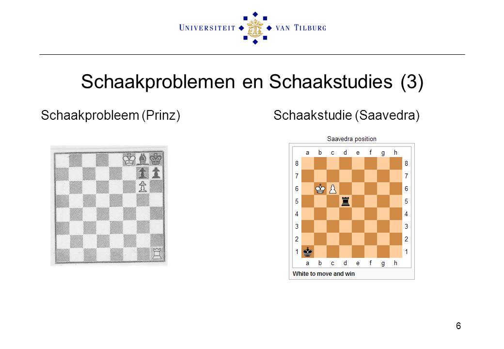 Schaakproblemen en Schaakstudies (3) Schaakprobleem (Prinz)Schaakstudie (Saavedra) 6