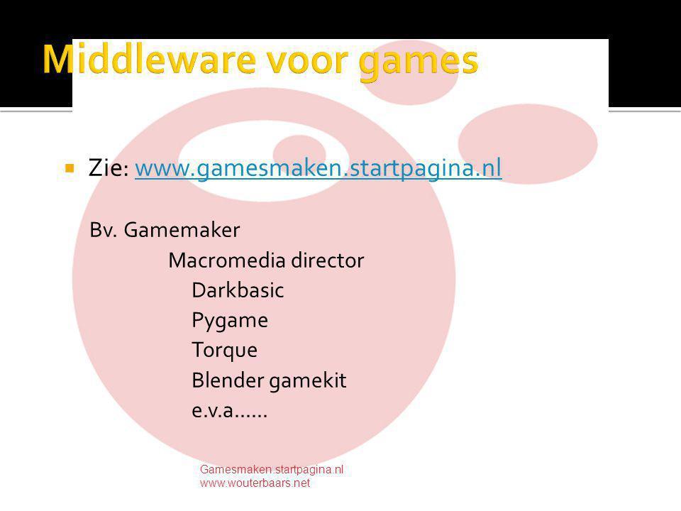  Zie: www.gamesmaken.startpagina.nlwww.gamesmaken.startpagina.nl Bv.