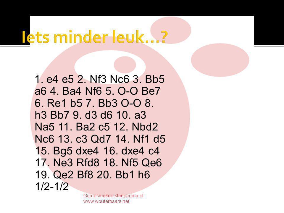 1. e4 e5 2. Nf3 Nc6 3. Bb5 a6 4. Ba4 Nf6 5. O-O Be7 6.