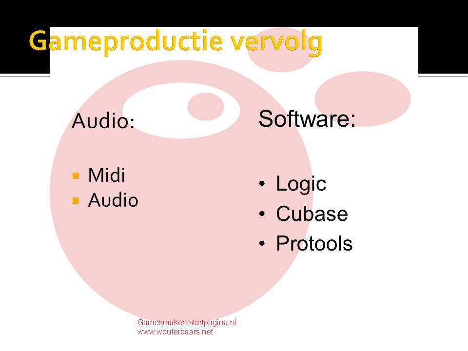  Graphics  Programmeren  Concept  Audio  Projectleiding  AI, Physics engine's Gamesmaken.startpagina.nl www.wouterbaars.net