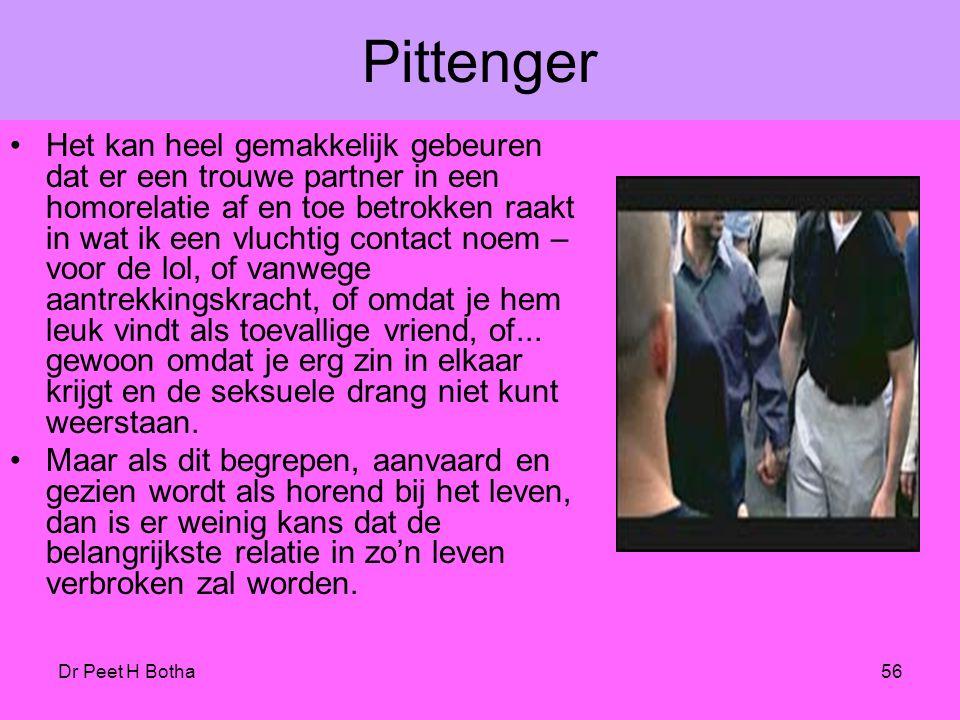 Dr Peet H Botha55 De verandering van de huwelijkstheologie Voorstanders van homotheologie voeren vaak aan dat open verhoudingen – feitelijk zijn dat s