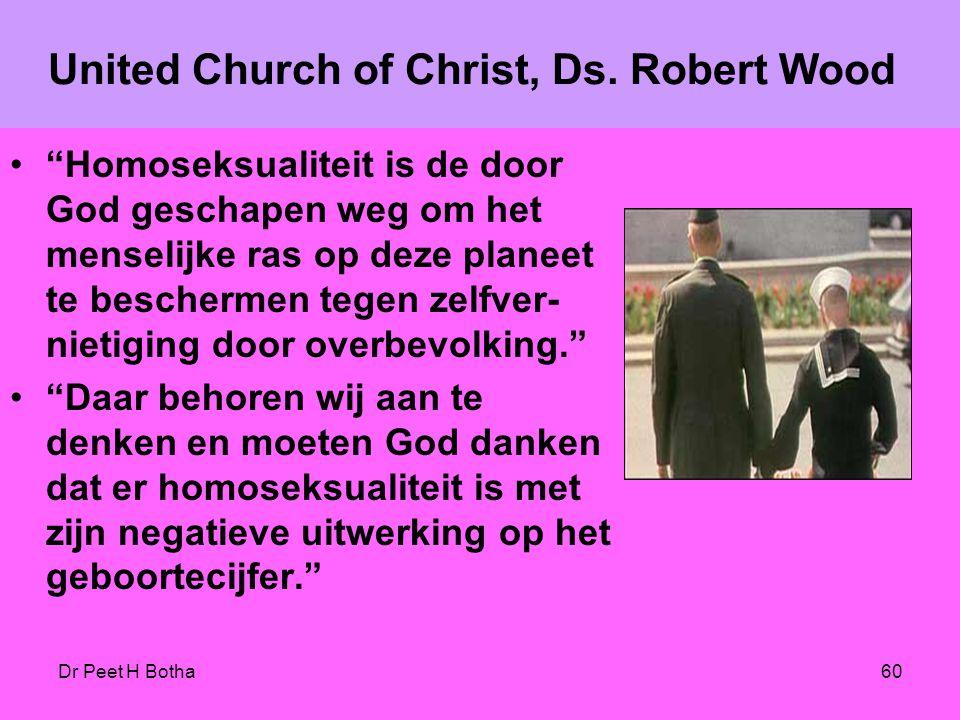 Dr Peet H Botha59 Het begrip 'gezin' moet opnieuw worden verwoord en omschreven. Een nieuwe theologische definitie die homoseksualiteit insluit. Paul
