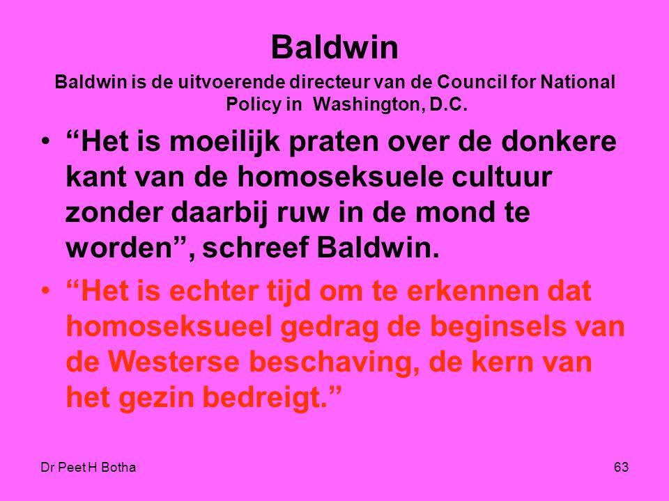 """Dr Peet H Botha62 Paul Germond """"De verheerlijking van het gezin (traditionele of Bijbelse gezinsvorm), gaat voorbij aan het erkennen dat ook binnen he"""
