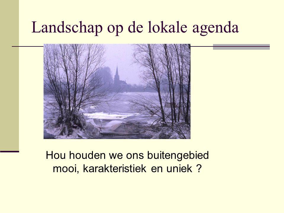 Landschap op de lokale agenda Hou houden we ons buitengebied mooi, karakteristiek en uniek ?