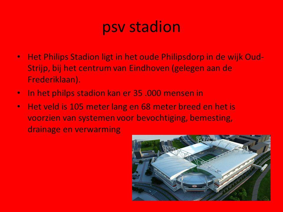 psv stadion Het Philips Stadion ligt in het oude Philipsdorp in de wijk Oud- Strijp, bij het centrum van Eindhoven (gelegen aan de Frederiklaan). In h