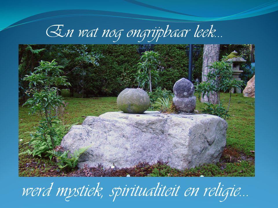 En wat nog ongrijpbaar leek… werd mystiek, spiritualiteit en religie…