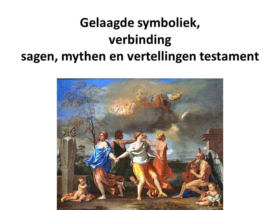 Gelaagde symboliek, verbinding sagen, mythen en vertellingen testament