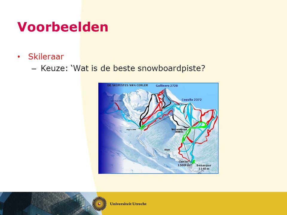 Voorbeelden Skileraar – Keuze: 'Wat is de beste snowboardpiste?