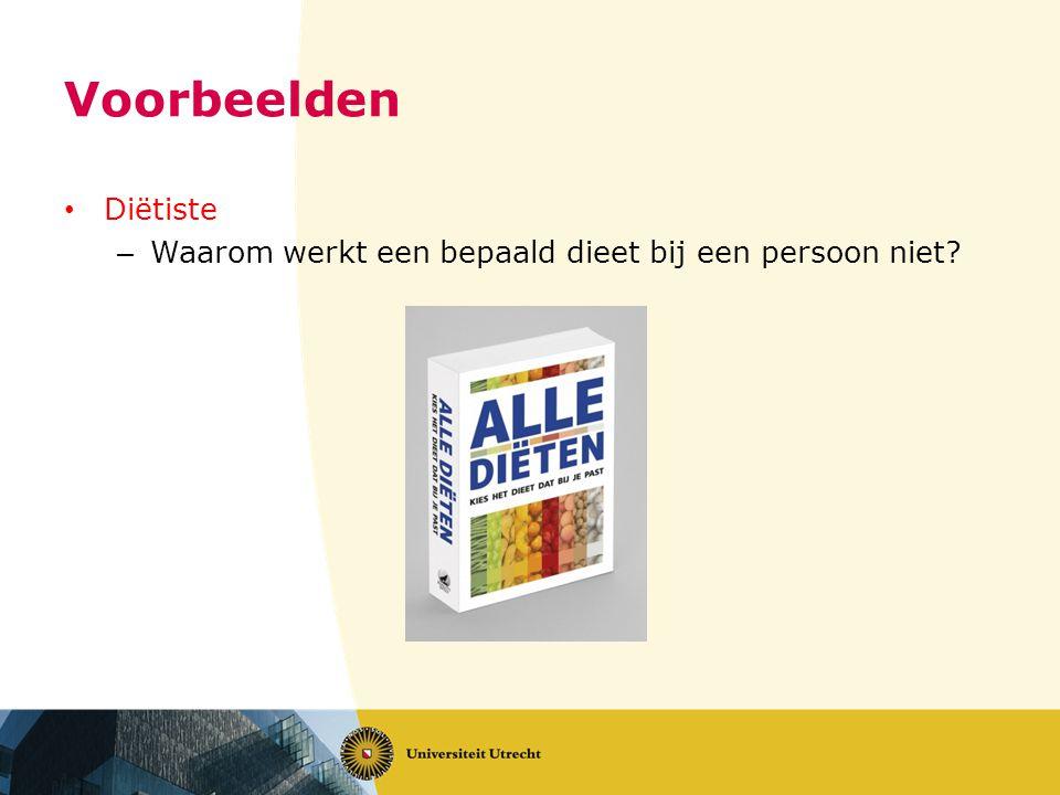 Voorbeelden Diëtiste – Waarom werkt een bepaald dieet bij een persoon niet?