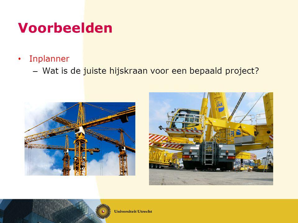 Voorbeelden Inplanner – Wat is de juiste hijskraan voor een bepaald project?