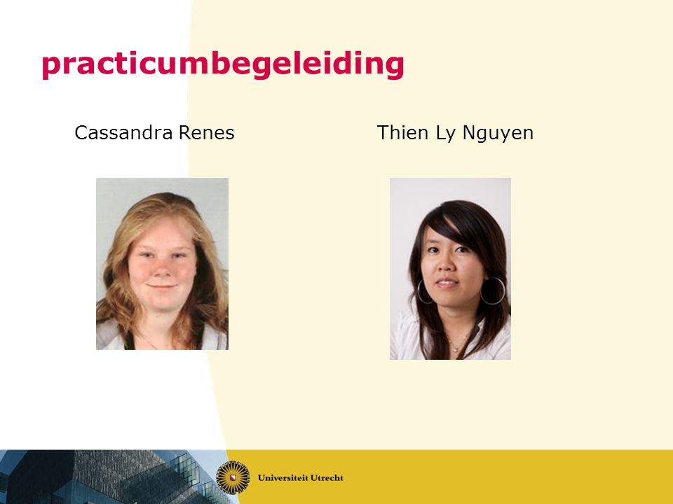 practicumbegeleiding Cassandra Renes Thien Ly Nguyen