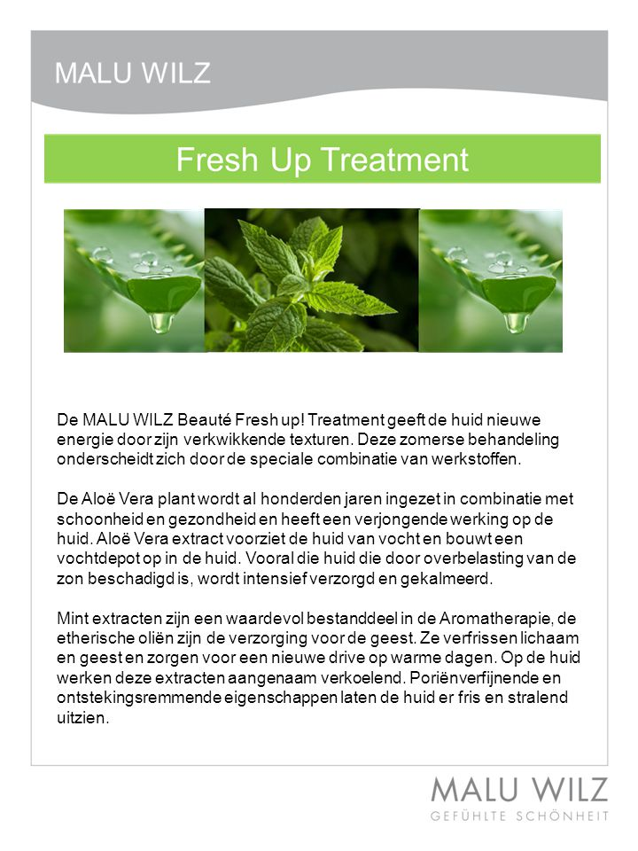 Professionele producten ALOE MINT MASSAGE GelDetailprijs € 22,50 /200ml Verfrissende massagegel met intensief vochtvasthoudende eigenschappen en verkwikkende Mint extracten.