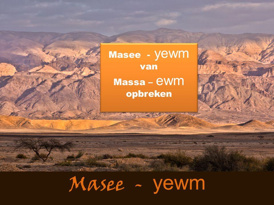 Masee - yewm 4 Het woord des HEREN nu kwam tot mij: 5 Eer Ik u vormde in de moederschoot, heb Ik u gekend, en eer gij voortkwaamt uit de baarmoeder, heb Ik u geheiligd; tot een profeet voor de volkeren heb Ik u gesteld.