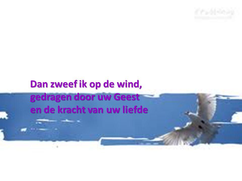 Dan zweef ik op de wind, gedragen door uw Geest en de kracht van uw liefde