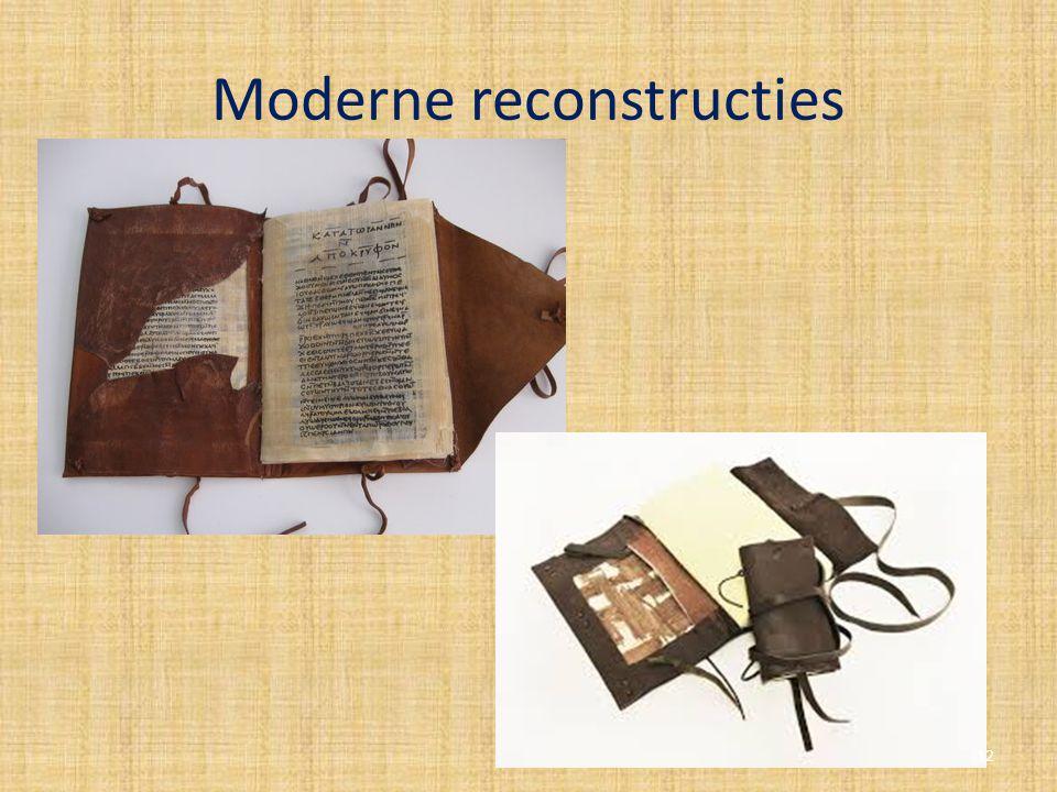 Moderne reconstructies 12