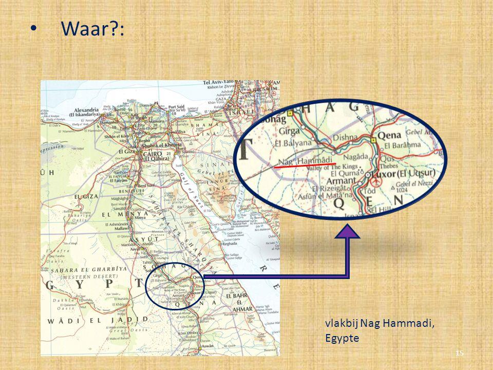 Waar?: 15 vlakbij Nag Hammadi, Egypte