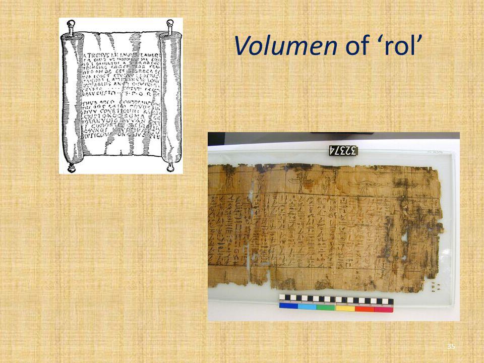 Volumen of 'rol' 35