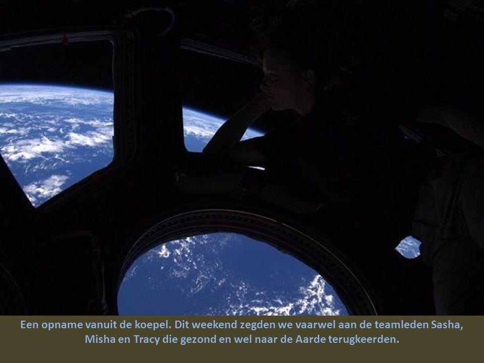 Ons schip met automatische piloot Progress 39P nadert het Internationaal Ruimtestation.