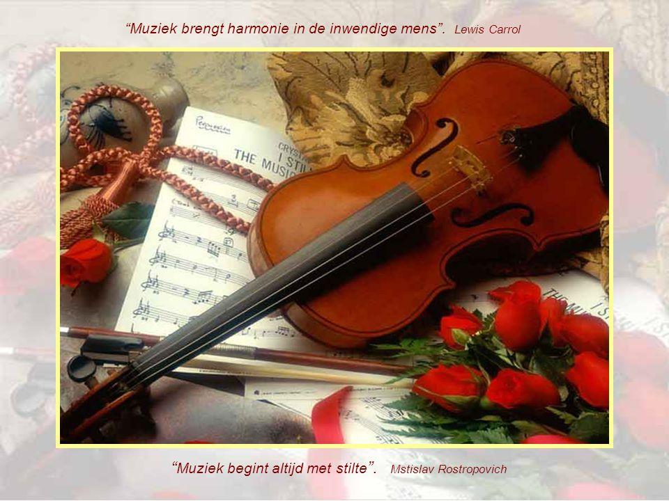 Muziek begint altijd met stilte .