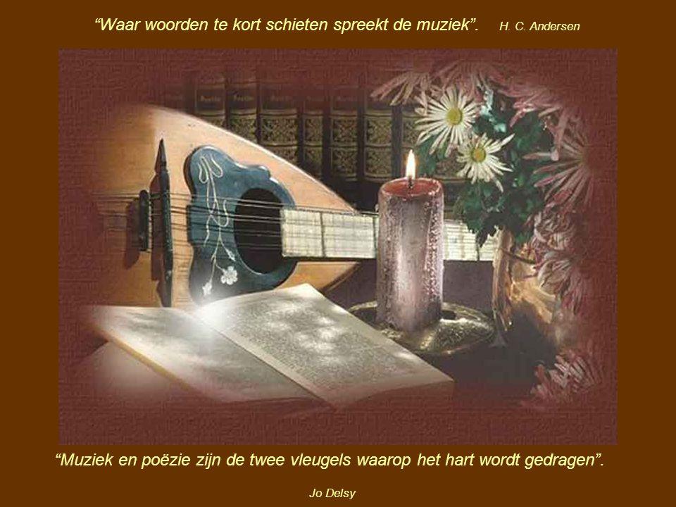 Waar woorden te kort schieten spreekt de muziek .