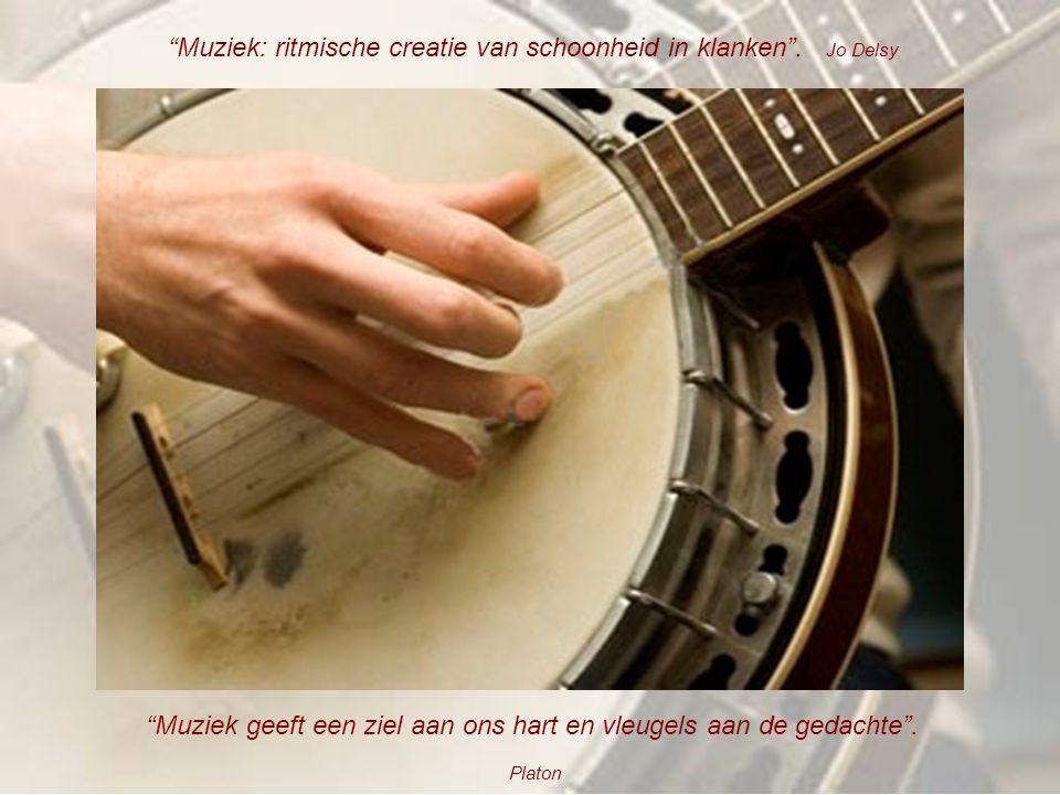 """""""Waar woorden te kort schieten spreekt de muziek"""". H. C. Andersen """"Muziek en poëzie zijn de twee vleugels waarop het hart wordt gedragen"""". Jo Delsy"""