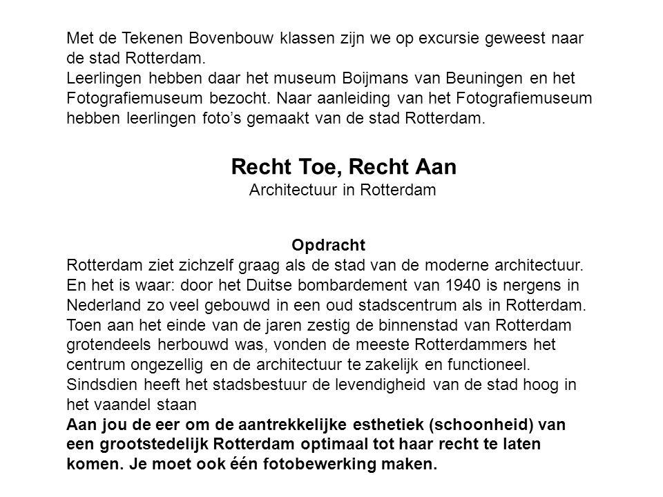 Met de Tekenen Bovenbouw klassen zijn we op excursie geweest naar de stad Rotterdam.