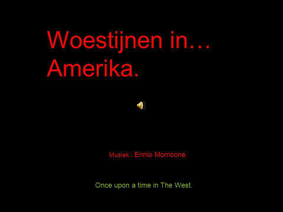 Once upon a time in The West. Woestijnen in… Amerika. Muziek : Ennio Morricone