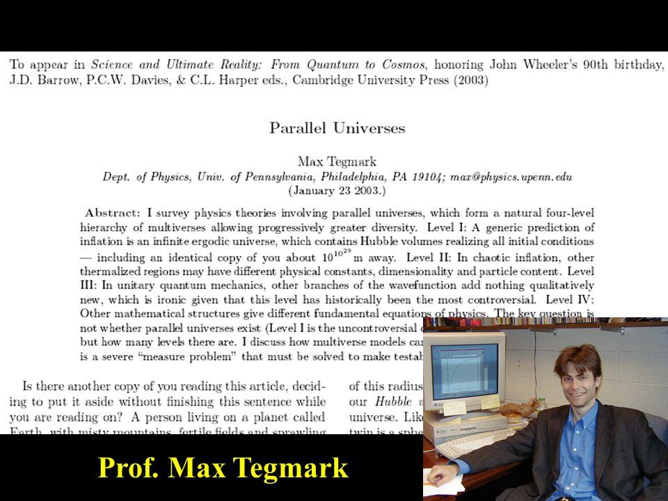 Prof. Max Tegmark
