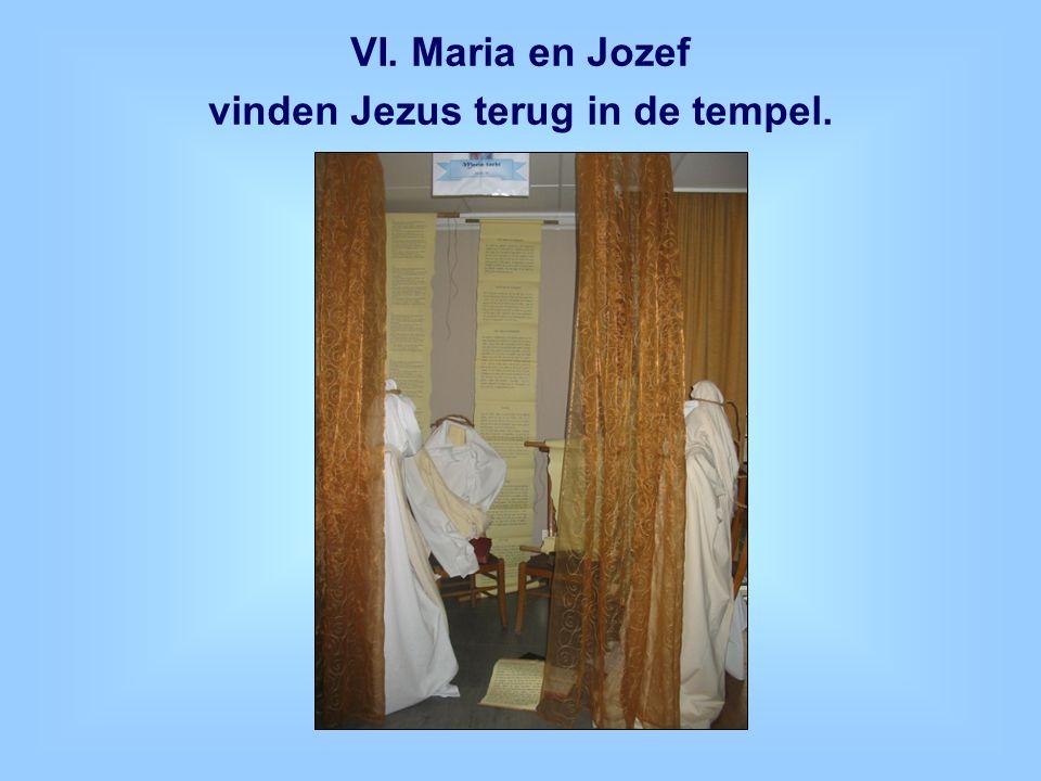 VI. Maria en Jozef vinden Jezus terug in de tempel.