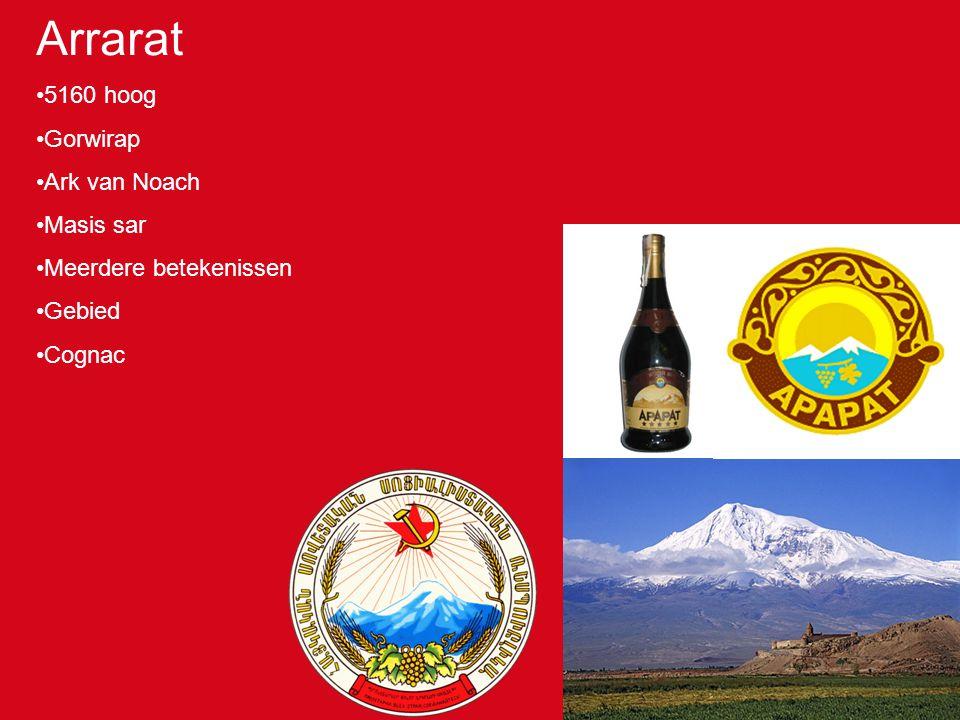 Arrarat 5160 hoog Gorwirap Ark van Noach Masis sar Meerdere betekenissen Gebied Cognac